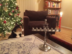 Olive with menorah